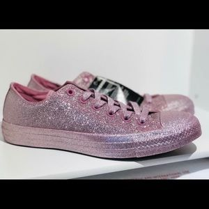 Converse monochrome Pink glitter sparkle HTF m6 w8